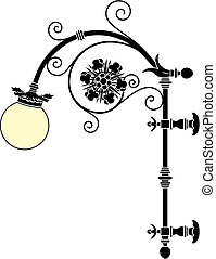 Street lamp - Italian wrought iron wall street lamp
