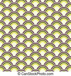 Seamless Retro Circles Background
