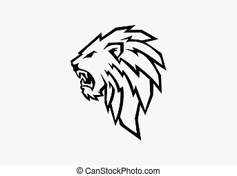 lion head - vector illustration of lion head