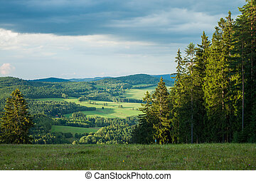 View from a mountain in Lipno - Czech Republic