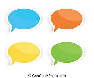 Speech Text Bubbles - Colorful speech text bubbles...