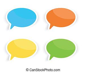 Speech Text Bubbles - Colorful speech text bubbles...