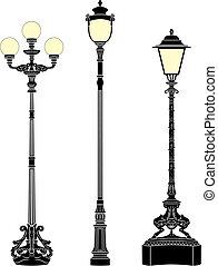 Street lamps - Italian wrought iron elegant street lamps