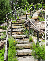 Rock Stairway at Betty Ford Alpine Garden in Vail Colorado