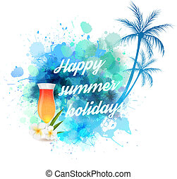 Summer vacation background - Summer background with palm...