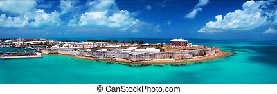 Kings wharf, Bermuda - Panoramic view of Bermuda Maritime...