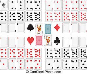 juego, tarjetas
