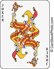 Symmetric joker playing card