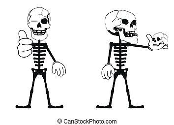 skull funny cartoon set1