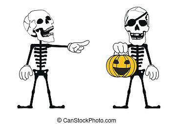 skull funny cartoon set3
