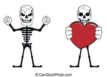 skull funny cartoon set4