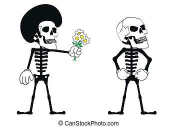 skull funny cartoon set7 - skull funny cartoon pictogram...