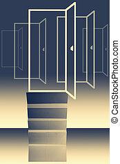 oportunidad, concepto, puerta