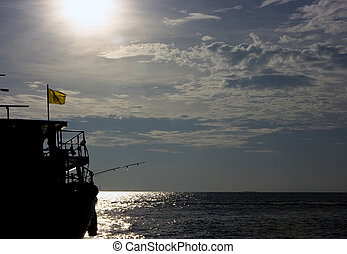 Fishing boat in the siam sea in Thailand