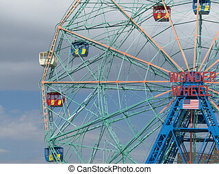 Wonder Wheel - famous old ferris wheel on Coney Island, NYC