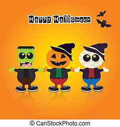 Halloween Costumes - abstract halloween costumes on a...
