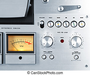 Analog Stereo Open Reel Tape Deck Recorder VU Meter Device...