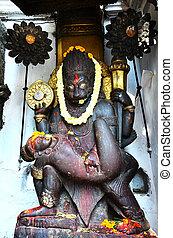 Roof of Hanuman - Carving of Hanuman Dhoka is a complex of...