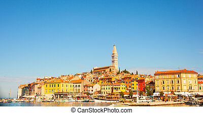 Rovigno - Rovinj, Croatia - View of Rovinj little city in...