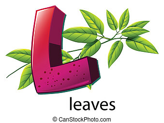 A letter L for leaves - Illustration of a letter L for...