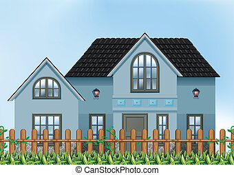 A single detached house - Illustration of a single detached...