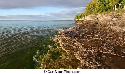 Cave Point Coast Loop - Loop features waves on Lake Michigan...