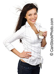 Casual woman - Casual young businesswoman / student with...
