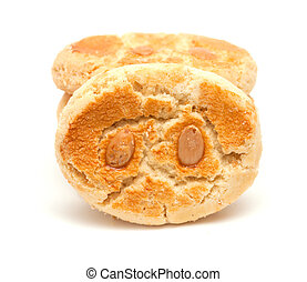 traditional canarian soft biscuits of butter and almonds,...