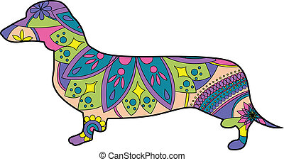 Dachshund - vector illustration of dachshund