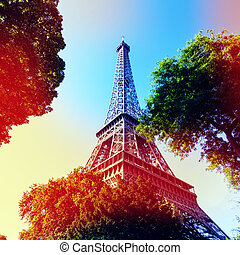 Eiffle Tower filter art photography. Paris. France