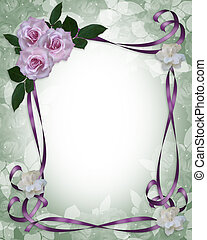 Lavender Roses Wedding Invitation border - Image and...
