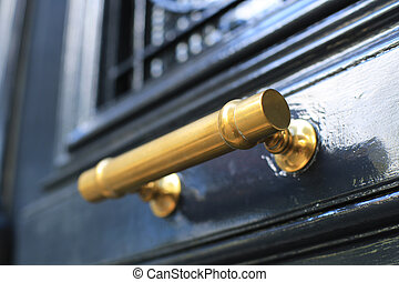 Door handle, vintage and antique decoration, house