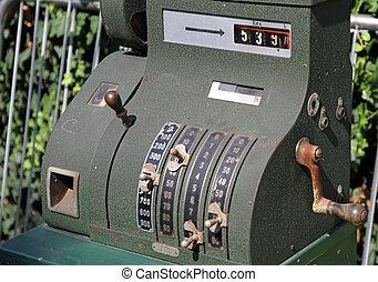 old cash register for sale at flea market 2 - ancient cash...