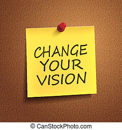 change your vision words on post-it