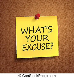 what is your excuse words on post-it