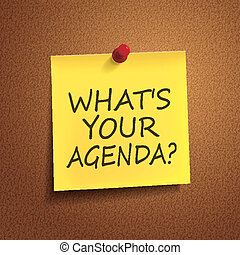 what is your agenda words on post-it