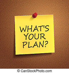 what is your plan words on post-it