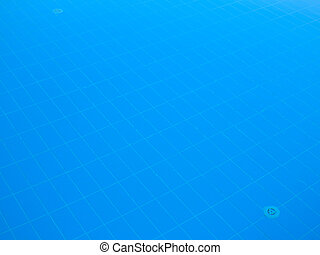 Bottom of the pool background texture blue water