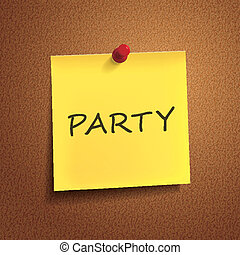 party word on post-it