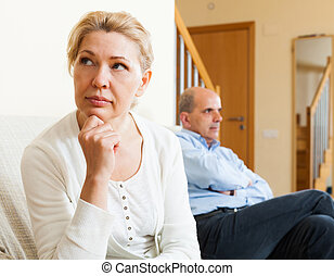 Family problem - Portrait of senior couple after quarrel in...