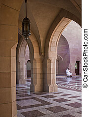 Sultan Qaboos Grand Mosque entrance - The Sultan Qaboos...