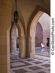 Sultan Qaboos Grand Mosque entrance - The Sultan Qaboos...