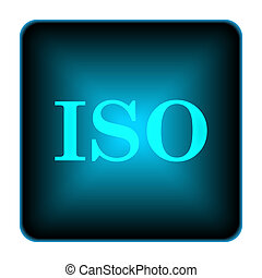 ISO icon Internet button on white background