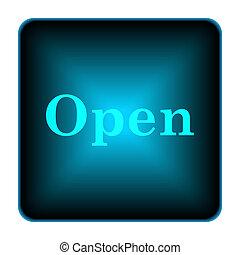 Open icon Internet button on white background