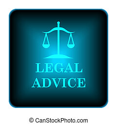 Legal advice icon Internet button on white background