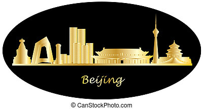 beijin china city skyline