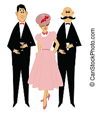 retro dinner party  - dinner party guests