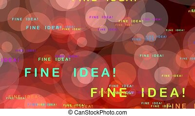 Fine idea! - motion graphics with text