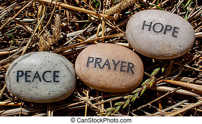 prayer, hope, peace, inscribed rock