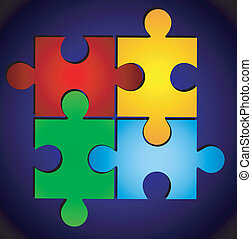 varicoloured puzzle - varicoloured puzzle, vector...